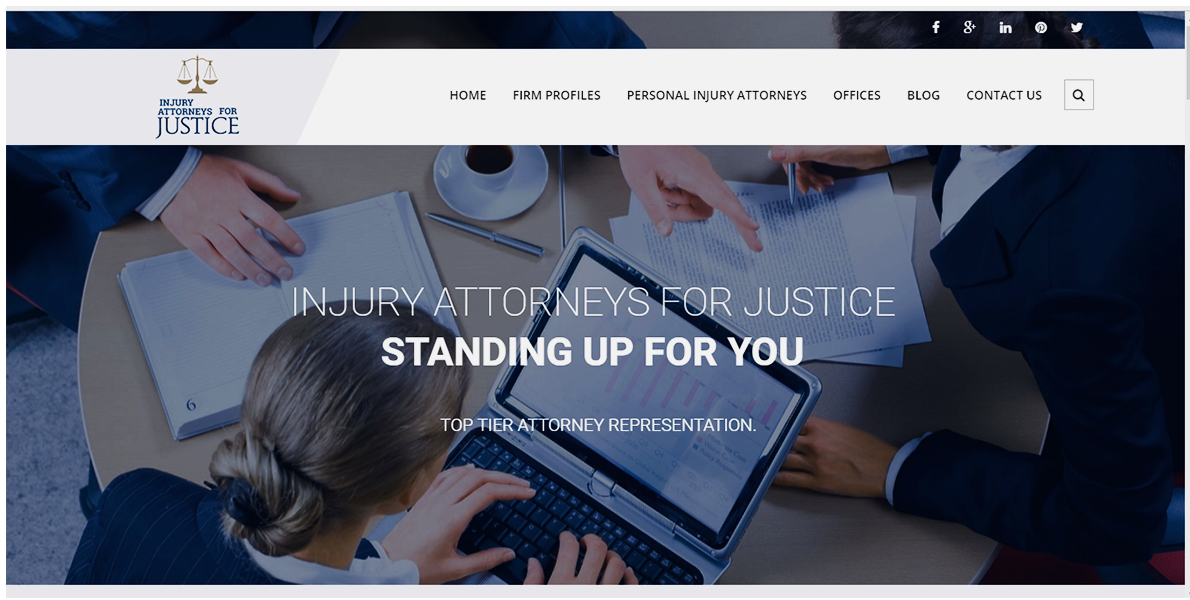 Web Handlers Portfolio Injury Attorneys For Justice