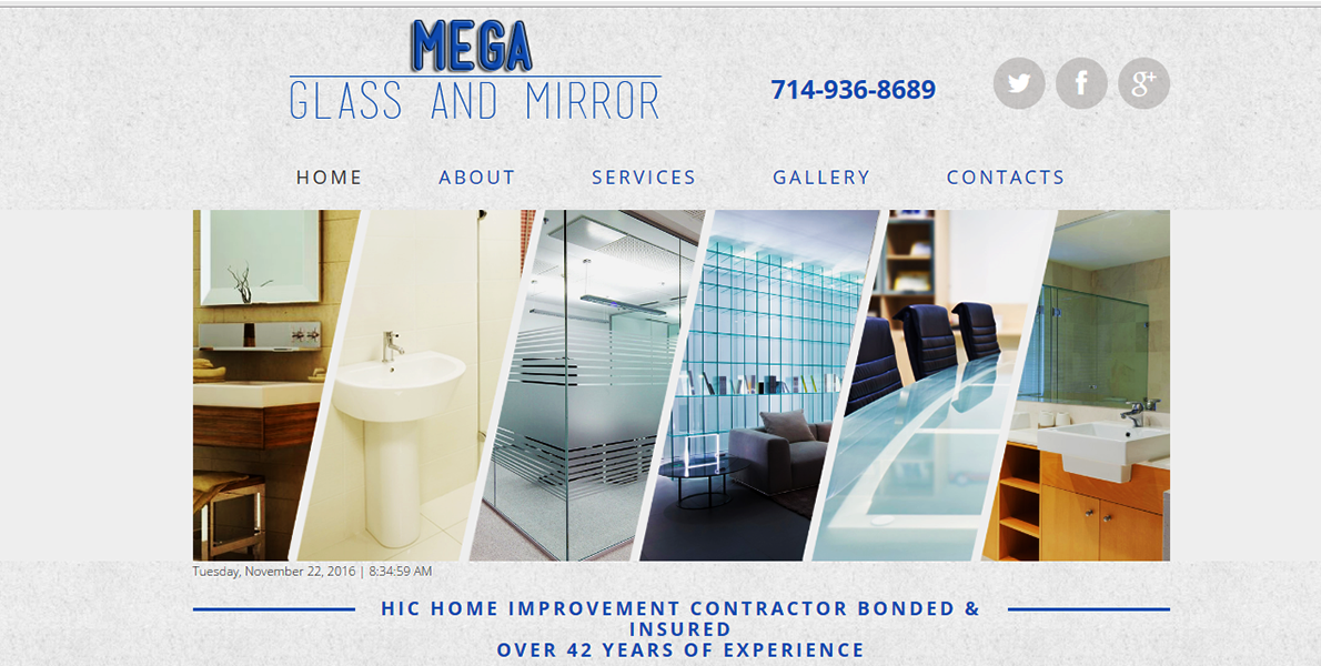 Web Handlers Portfolio Mega Glass And Mirror