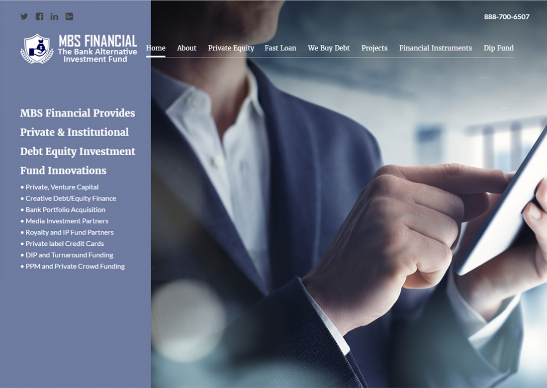 The Web Handlers Portfolio MBS Financial Investment Group